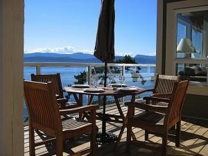 Pender Island Vacation Rental Deck1