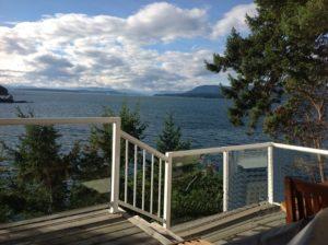 Deck view overlooking waters